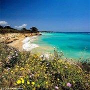 Foto Mare Sicilia. Fontane Bianche la costa fiorita e il mare turchese