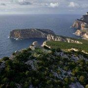 Sardegna, Capo Caccia Isola Piana dal cielo (foto aerea) / Luca Tamagnini Catalogo 2008-021