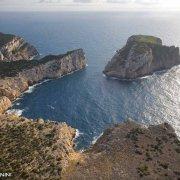 Sardegna, Capo Caccia Isola Piana dal cielo (foto aerea) / Luca Tamagnini Catalogo 2008-022