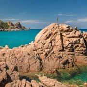 Sardegna, graniti variopinti di Cala Luas nei pressi di Marina di Gairo