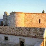 Siracusa Ortigia Castello Maniace con il mare sullo sfondo