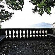 """Sorrento Sant'Agnello belvedere con Vesuvio della Villa privata """"Il Pizzo"""""""