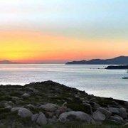 Sardegna, Canale dell'Isola dei Cavoli con una barca a vela