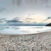 Toscana, Spiaggia di Cala Violina dopo il tramonto sullo sfondo il mare