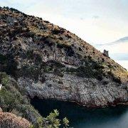 Penisola Sorrentina Fiordo di Crapolla sullo sfondo le isole di Vetara e Li Galli
