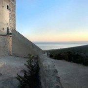 Parco Regionale della Maremma Torre di Collelungo sullo sfondo il mare