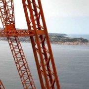 Stretto di Messina Pilone Calabro sullo sfondo la costa siciliana di Capo Peloro