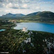 Sardegna, Porto Conte Torre di Tramariglio dal cielo (foto aerea) / Luca Tamagnini Catalogo 2008-037