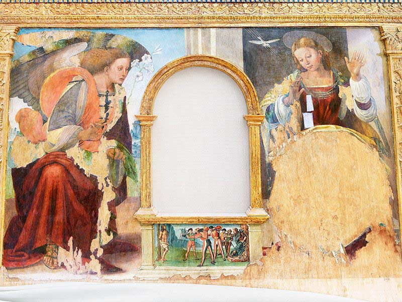 Olivo Barbieri Camerino Macerata 2017 - L'Annunciazione di Luca Signorelli (1445-1523) Museo Diocesano di Camerino