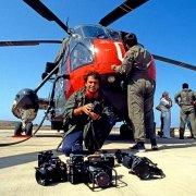 Luca Tamagnini e elicottero Marina Militare Italiana SH3D Pantelleria 1990