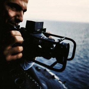 Luca Tamagnini fotografa dal cielo in elicottero Sardegna 1992