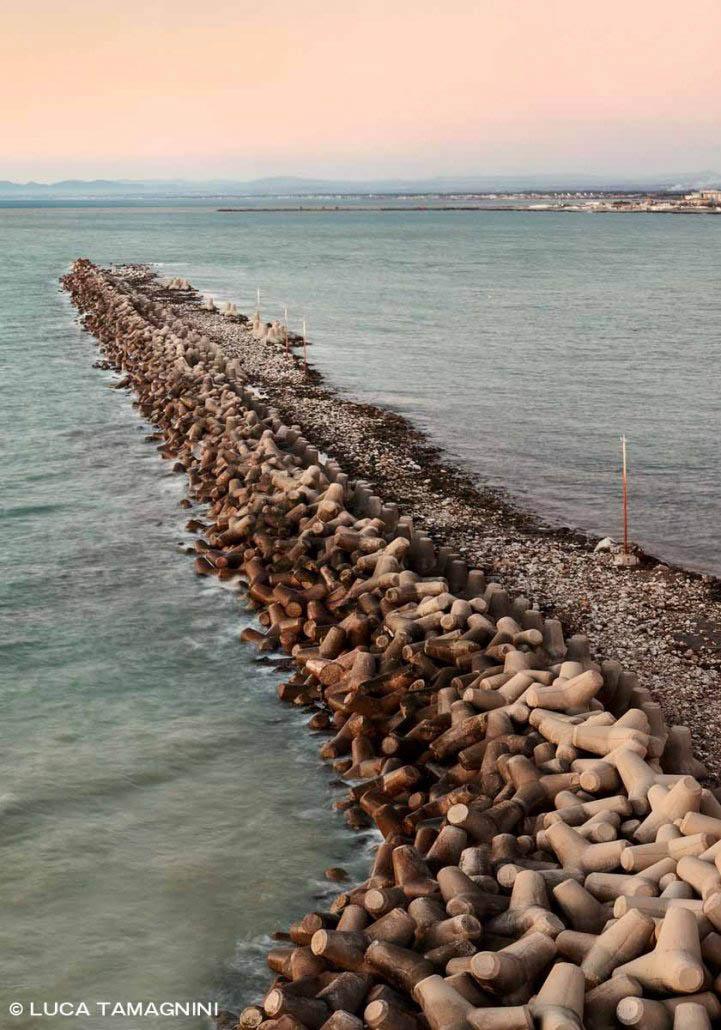 Fiumicino, 2021. Diga Foranea del Porto incompiuto della Concordia / Luca Tamagnini Catalogo 2021-004