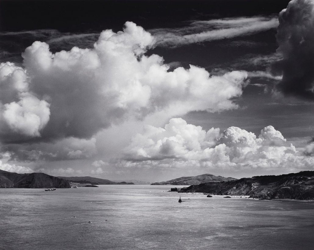 Paesaggio marino di Ansel Adams - The Golden Gate before the Bridge, San Francisco, California, 1932