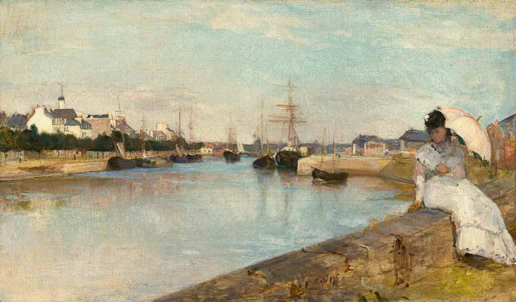 Paesaggio Marino di Berthe Morisot - Il Porto di Lorient (1875) - National Gallery of Art Washington