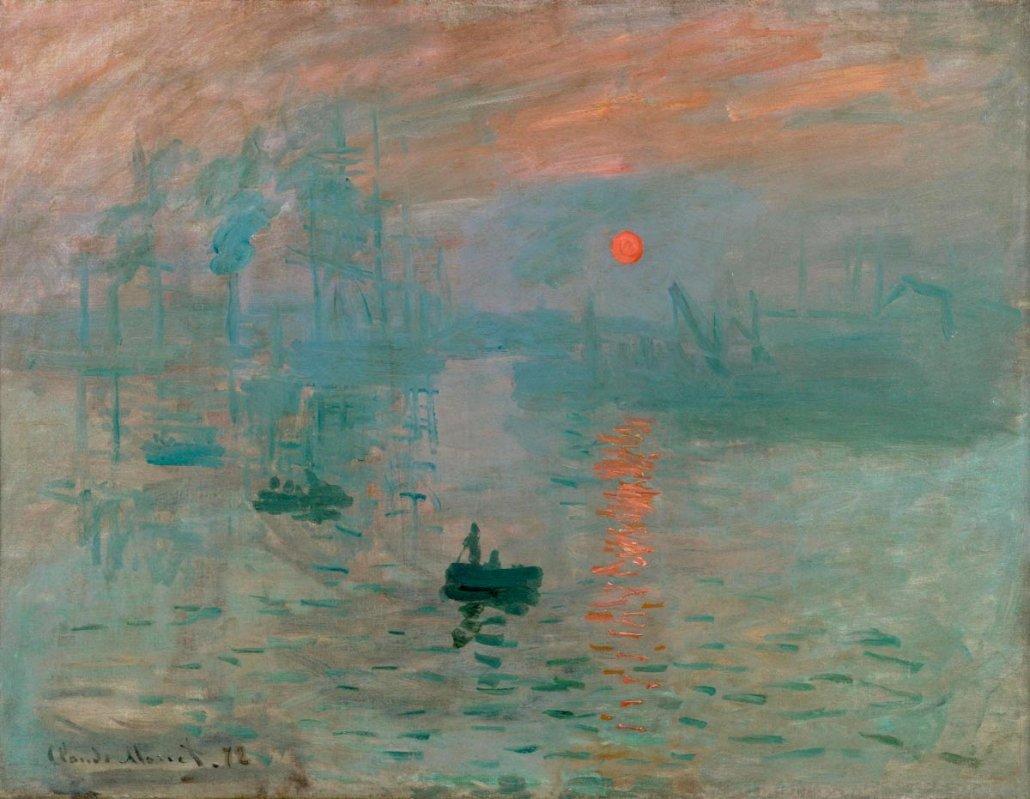 Paesaggio marino di Claude Monet - Impressione, sole nascente, (1872) - Musée Marmottan Parigi