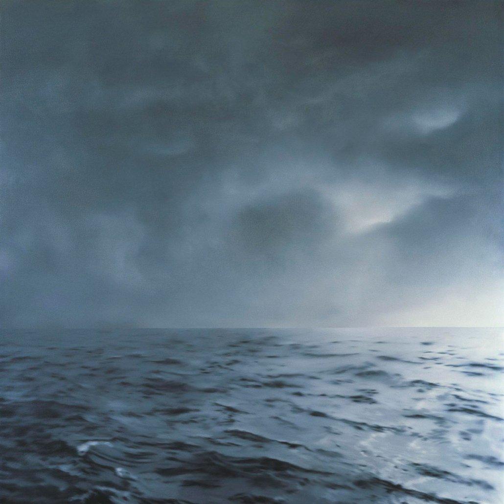Paesaggio marino di Gerhard Richter - Seascape (Green-grey, cloudy) (1969)