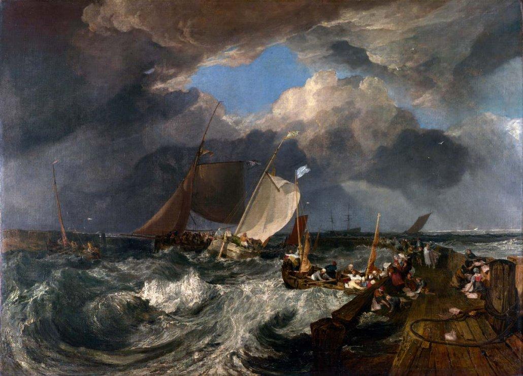 Paesaggio marino di William Turner - Molo di Calais, 1803 - National Gallery Londra