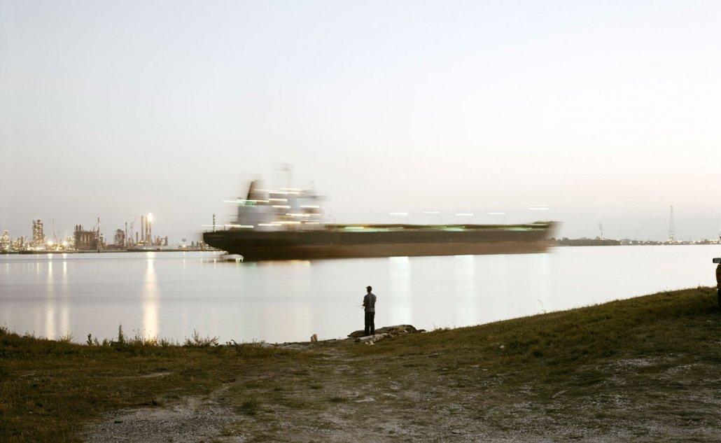 Richard Misrach, Night Fishing, Near Bonnet Carré Spillway, Louisiana, 1998