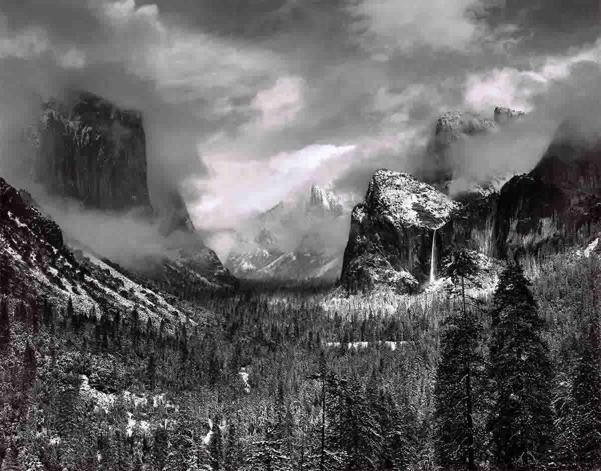 Ansel Adams. Clearing Winter Storm, Yosemite National Park, California. 1944